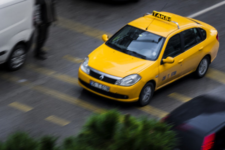 Taxi in the traffic Editorial