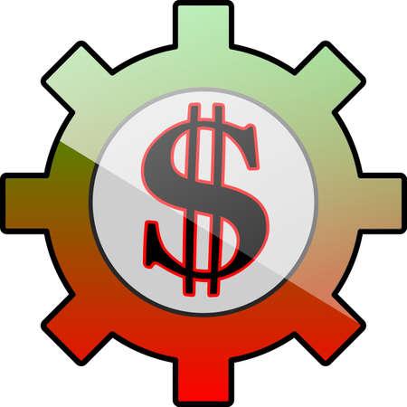 Gear icon with dollar symbol