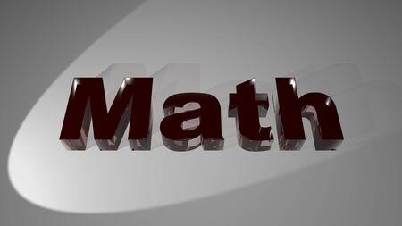 Math for mathematic Stock Photo