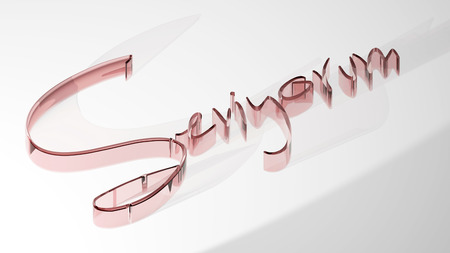 Seviyorum - I love you - 3D Rendering Stock Photo