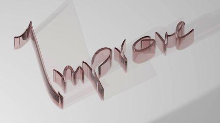 Improve - 3D Rendering Stock Photo