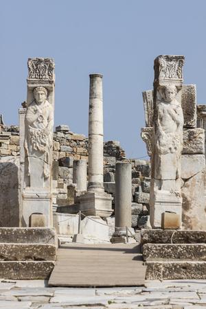 Hercules gate in the ancient city of Ephesus (Turkey) Banco de Imagens
