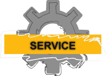 Service for industry icon Illustration