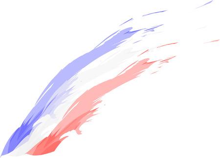프랑스어 - 영어 - 미국 국기 스케치 일러스트
