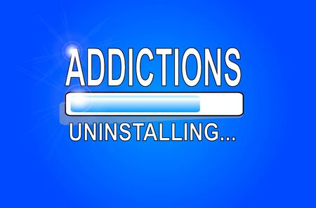 ADDICTIONS Uninstalling 向量圖像