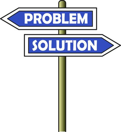 Problem - Solution street sign Illustration