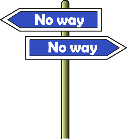 A street signal with two arrows indicating opposite ways but both of them are for the No way direction  イラスト・ベクター素材
