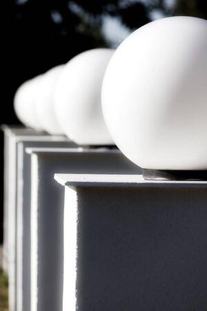 aligned: Aligned lights Stock Photo