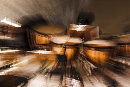 Tympanums op abstracte zoom