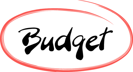 The Budget is written in a red hand drawn circle