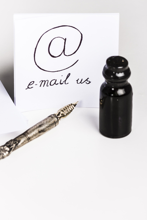 E-mail us with old pen and ink bottle