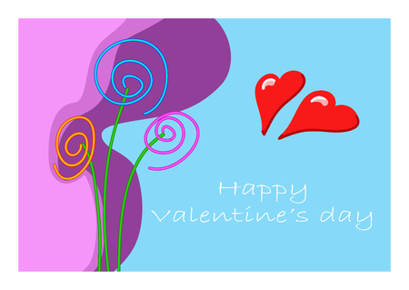 A card to give greetings for a happy valentines day Ilustrace
