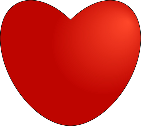 Red heart icon. 일러스트