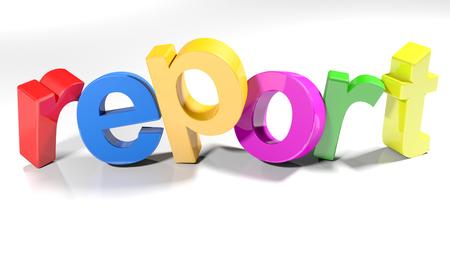 Colorful report write - 3D rendering