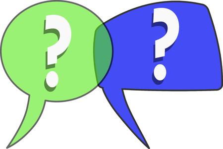 Comics bubbles for questions - vector Stock Vector - 94822211