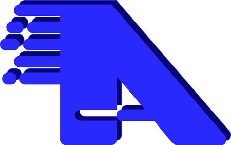 The logo icon for a letter A created with graphic style and design - vector Illusztráció