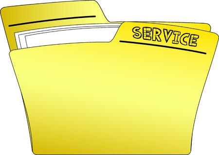 SERVICE folder icon Vector illustration. Illustration
