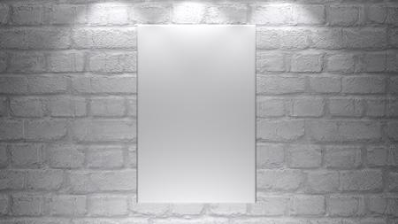 Une toile vide vierge - prête à être personnalisée. - Rendu 3D Banque d'images - 97836197