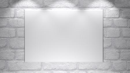 Une toile vide blanche - prête à être personnalisée. - rendu 3D Banque d'images - 97825662