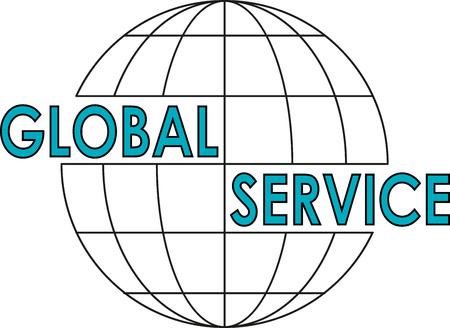 An icon for a global service with a stylized globe illustration.