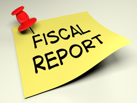 Fiscal Report - 3D rendered illustration