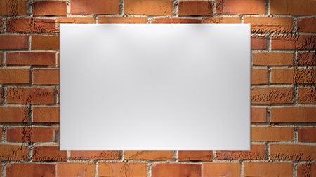 A white empty canvas - ready to be customized with personal image - 3D rendering Banque d'images - 100332441