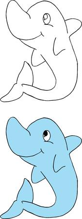 Happy dolphins icon