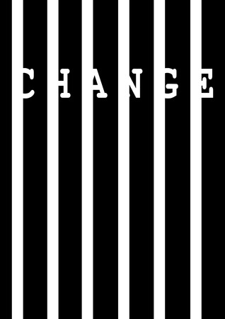 Change on white vertical bars - Vector