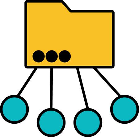 Icono - Carpeta multiusos - Vector
