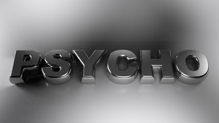 PSYCHO metallic chrome - 3D rendering