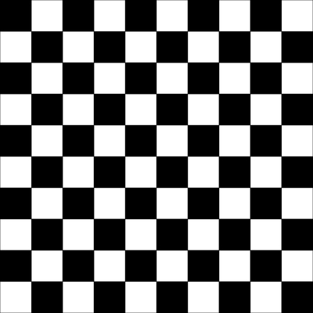 Texture - Black and White squared table - Vector Illustration