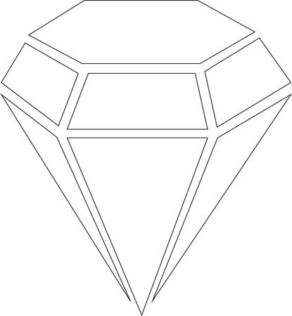 Icon Diamond isolated on white
