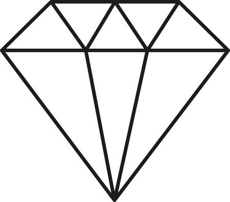Icon - Diamond - Vector