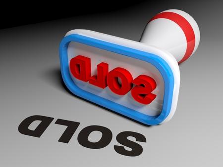Stamp SOLD - 3D rendering