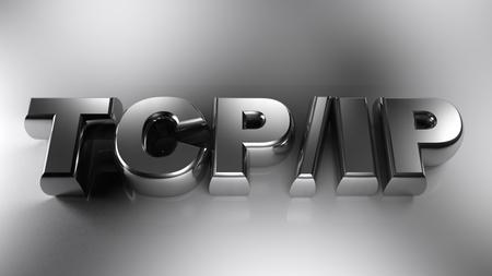 TCPIP chromed write - 3D rendering