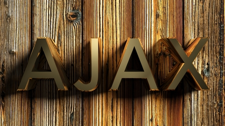 brass write on wooden background - 3D rendering