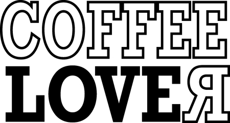 Coffee Lover text - Vector Ilustrace