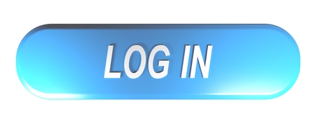 Blue rounded rectangle push button to LOG IN - 3D rendering Foto de archivo - 107745046