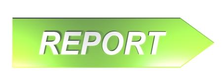 Green arrow pushbutton for REPORT - 3D rendering Stock fotó