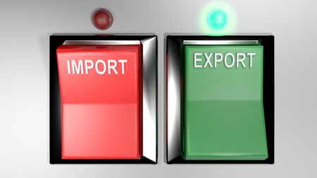 IMPORT - EXPORT switches - Export selected - 3d rendering