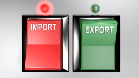 IMPORT - EXPORT switches - Import selected - 3d rendering