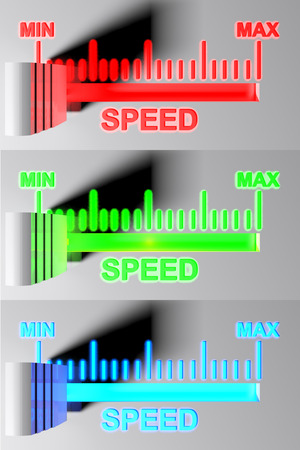 Level selector for SPEED - 3D rendering