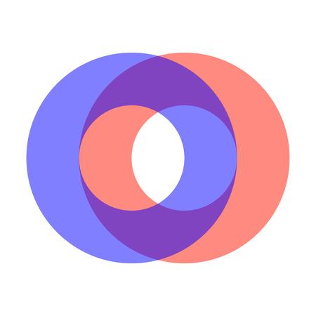 Abstracte cirkels snijpunten - vector