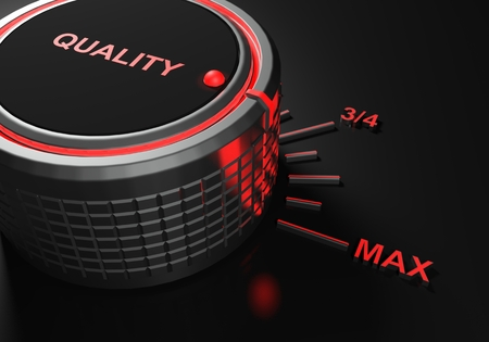 Quality knob set on maximum level - 3D rendering illustration