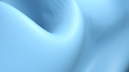 Abstract background blue surface rippled with light and shadows - 3D rendering illustration
