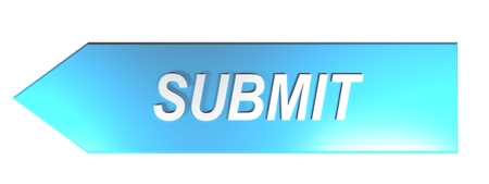 SUBMIT on blue arrow - 3D rendering