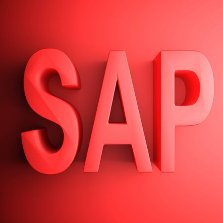 Red SAP square icon - 3D rendering illustration Banque d'images - 127984440