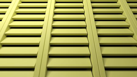 Abstract background with yellow shutters windows - 3D rendering illustration