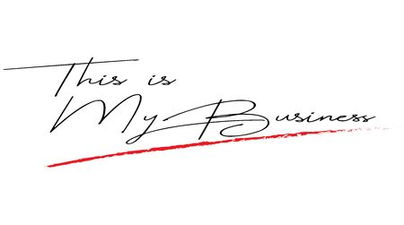 This is my Business handwrite on white background - vector