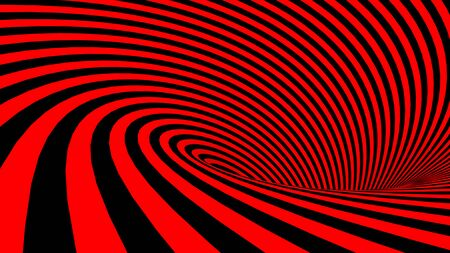 Red and Black spiral background - 3D rendering illustration